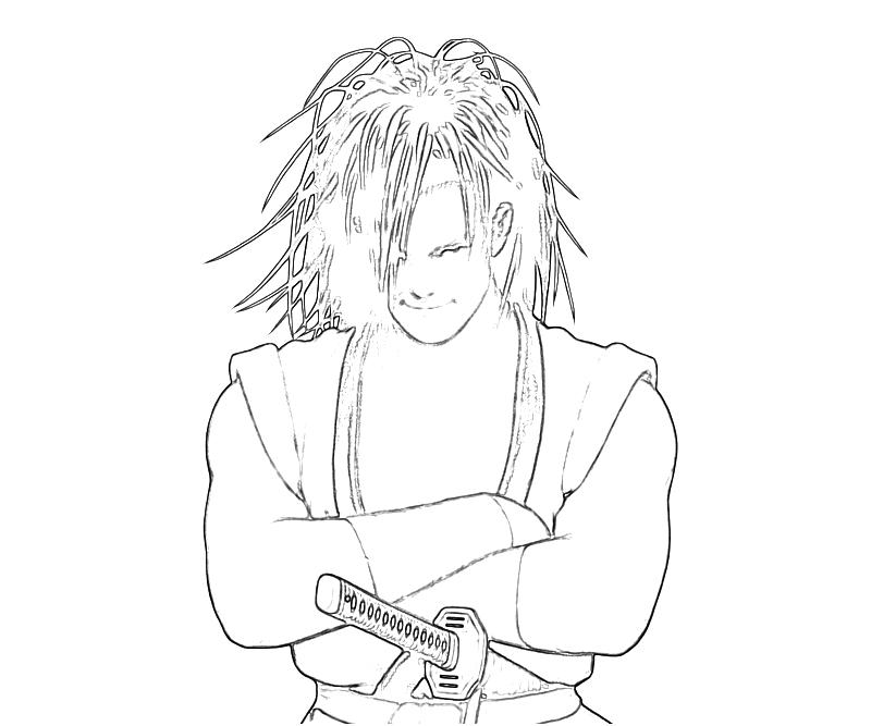 Ninja gaiden 3 coloring pages for Ryu coloring pages