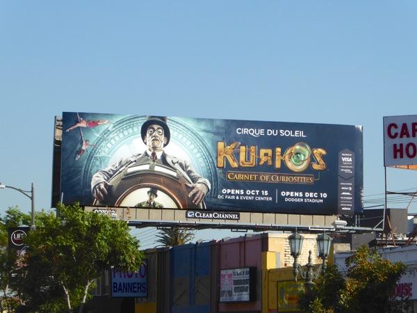 Cirque du Soleil Kurios billboard