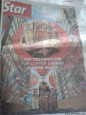 The Star front page international coffee day with wonda
