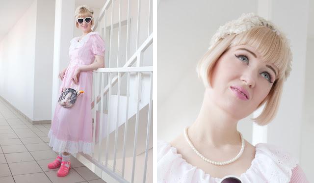 pastel pink, outfit, vintage, princess