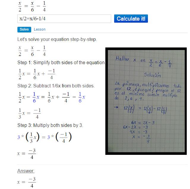 Resolver paso a paso problemas de matemática con Mathpapa