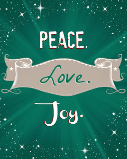 Peace. Love. Joy. Free Printable available at soheresmylife.com