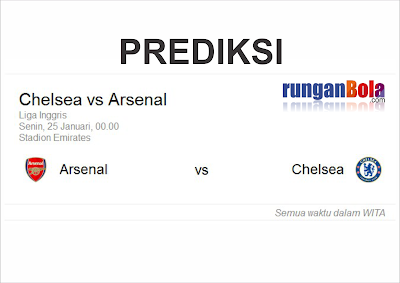 Prediksi Arsenal vs Chelsea 2016