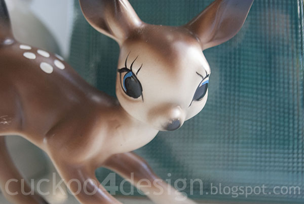 vintage ceramic deer