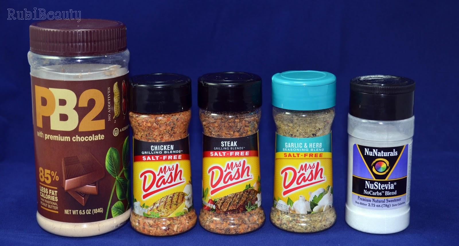 rubibeauty haul iherb compras PB2 Mrs Dash Stevia especias food