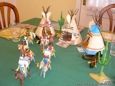 decoracion mesa cumpleaños vaqueros