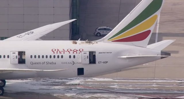Ethiopian Airlines dreamliner Fire