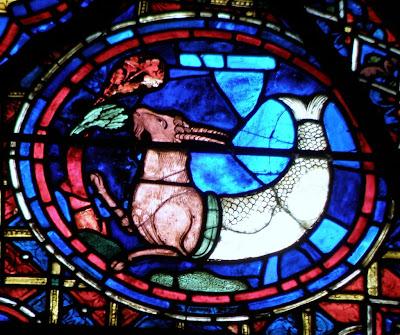 signo zodiacal capricornio en vitral