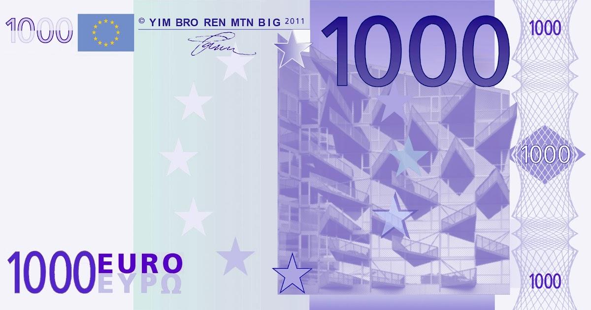 Dangerous news in arrivo la nuova banconota da 1000 euro - Dove stampare pagine a colori ...