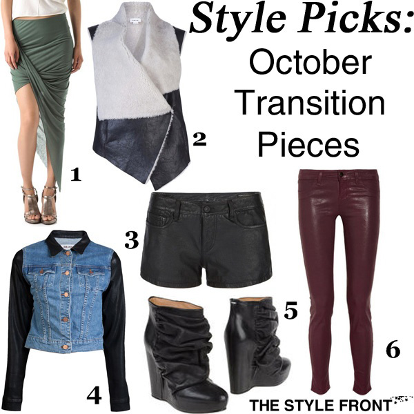 6 Wardrobe Pieces to Transition you into Fall 2012
