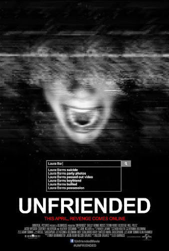 Poster Of Unfriended 2014 In Hindi Dual Audio Bluray 720P Free Download