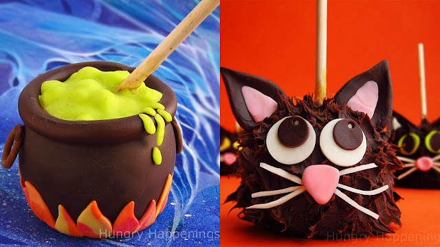 caramel apple creations using modeling chocolate