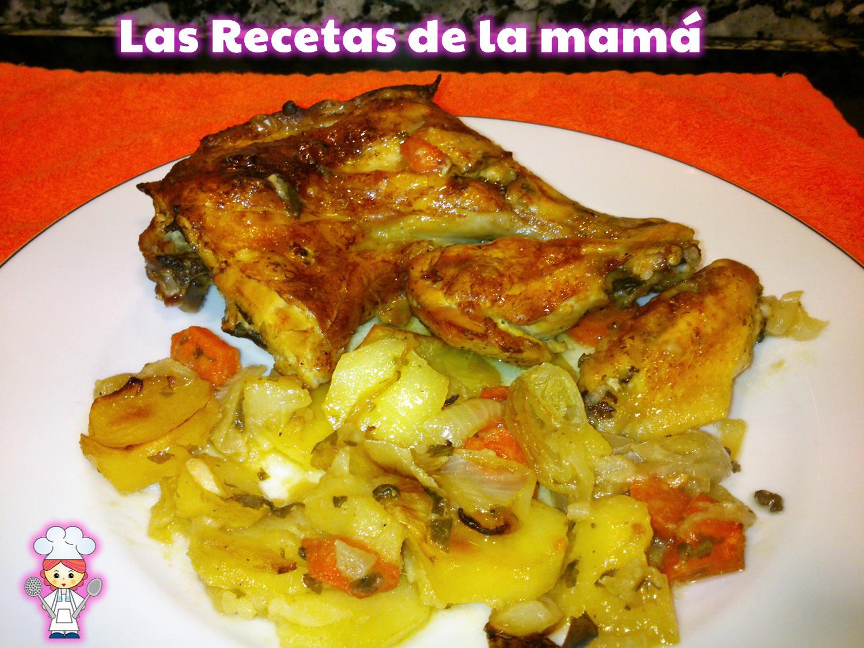 Las recetas de la mam receta de pollo al horno con vino - Receta bogavante al horno ...