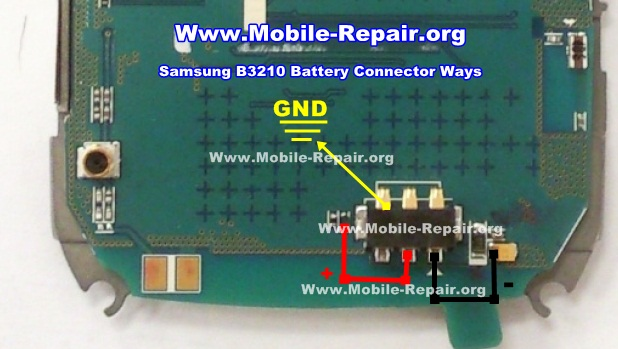 Samsung B3210 Battery Connector Ways Solution