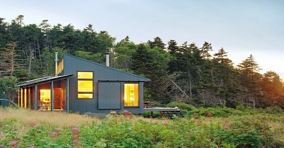 Organic news tiny off grid cabin in maine is completely for Maine eco homes