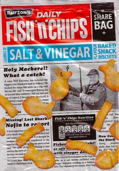 Cheeseburger crisps other stories burton 39 s daily fish 39 n for Fish and chips vinegar