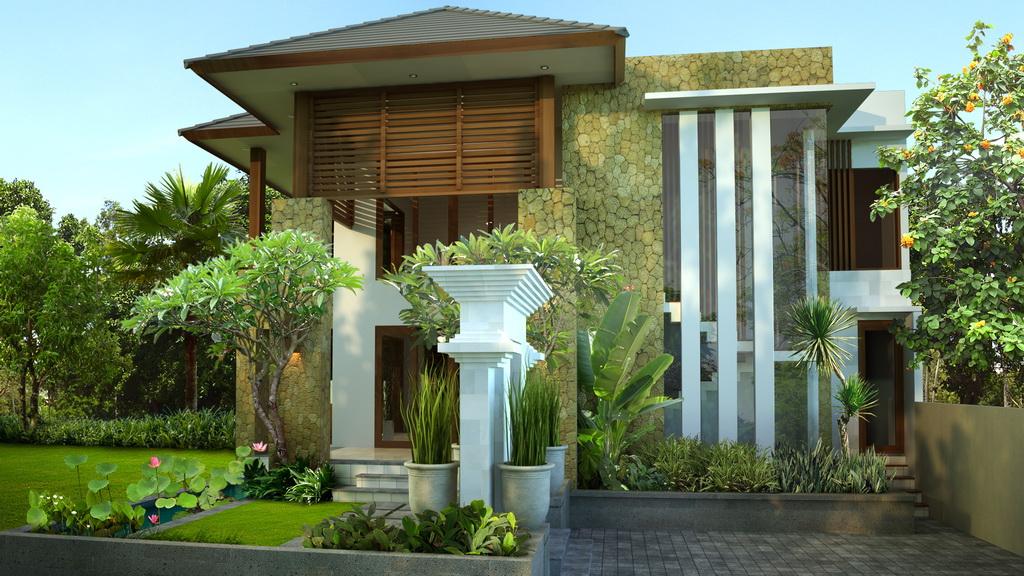 Desain Rumah Villa Minimalis Mewah Modern Gambar Rumah
