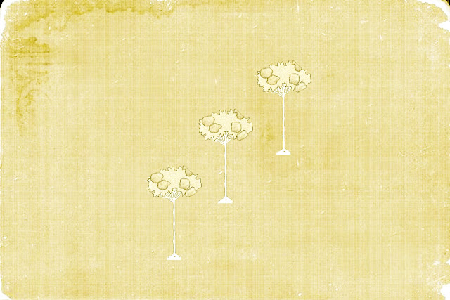 Vintage Childhood Textures three trees