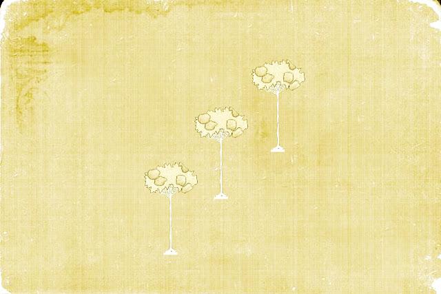 Vintage Childhood Textures three trees