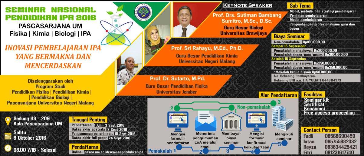 Seminar Nasional Pendidikan IPA 2016