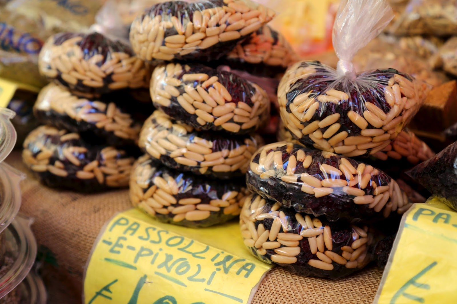 Pine nuts and raisins, Palermo, Sicily