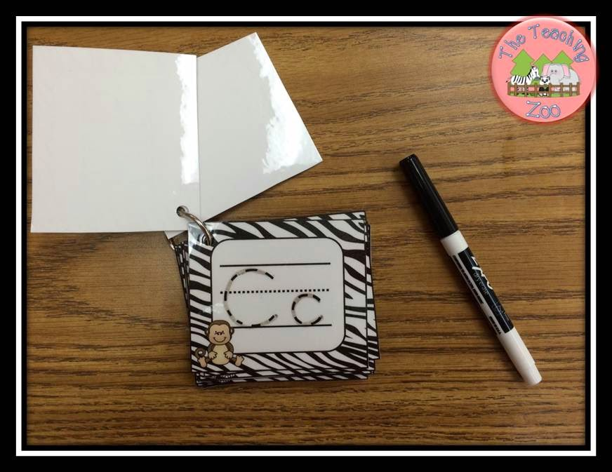 http://www.teacherspayteachers.com/Product/FREEBIE-Zoo-Animals-ABC-Write-Wipe-Jungle-Safari-Theme-1285719