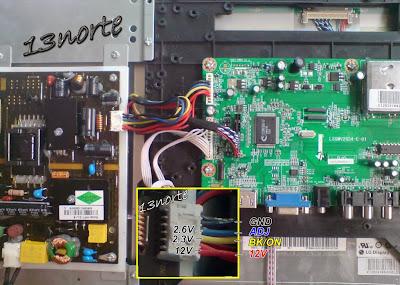 Fuente y mainboard Konix KT-19LE92-R
