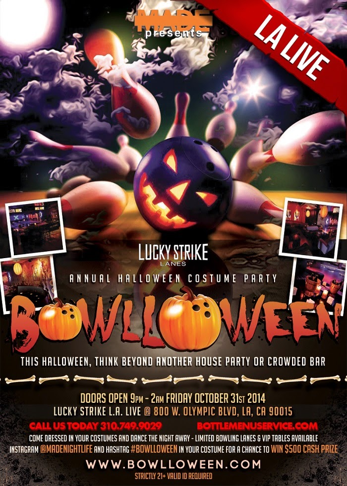 """Lucky Strike Los Angeles Halloween Events"""