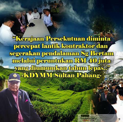 DYMM Sultan Pahang Melawat Cameron Highlands