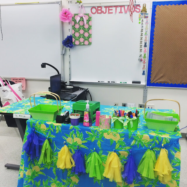 lilly pulitzer garnet hill teacher desk