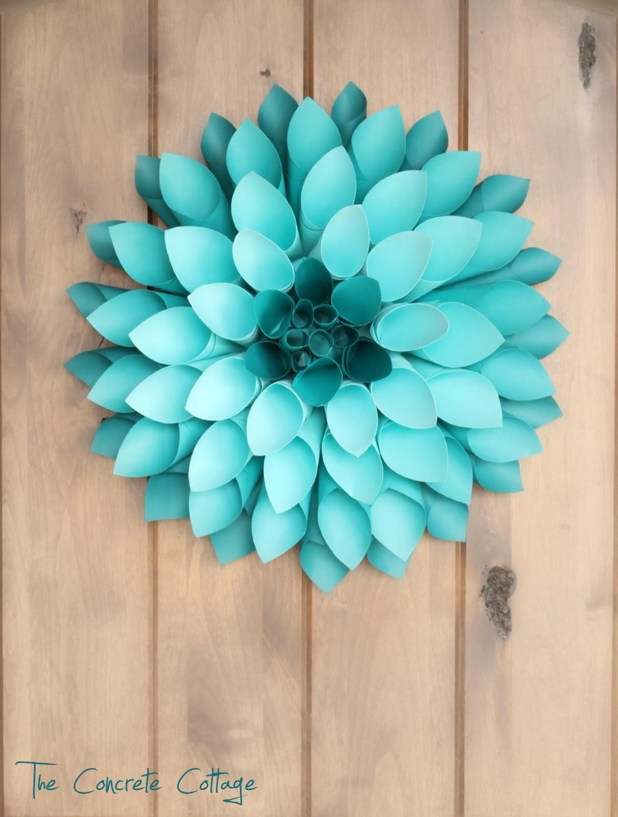 The Concrete Cottage Paper Dahlia Wreath