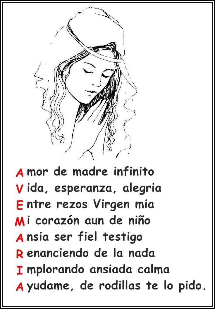 BIQUINHOSEAGARIMOS: AVE MARIA (Acrostico)