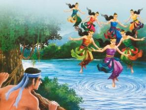 Cerita rakyat jaka tarub dan 7 bidadari dalam bahasa inggris