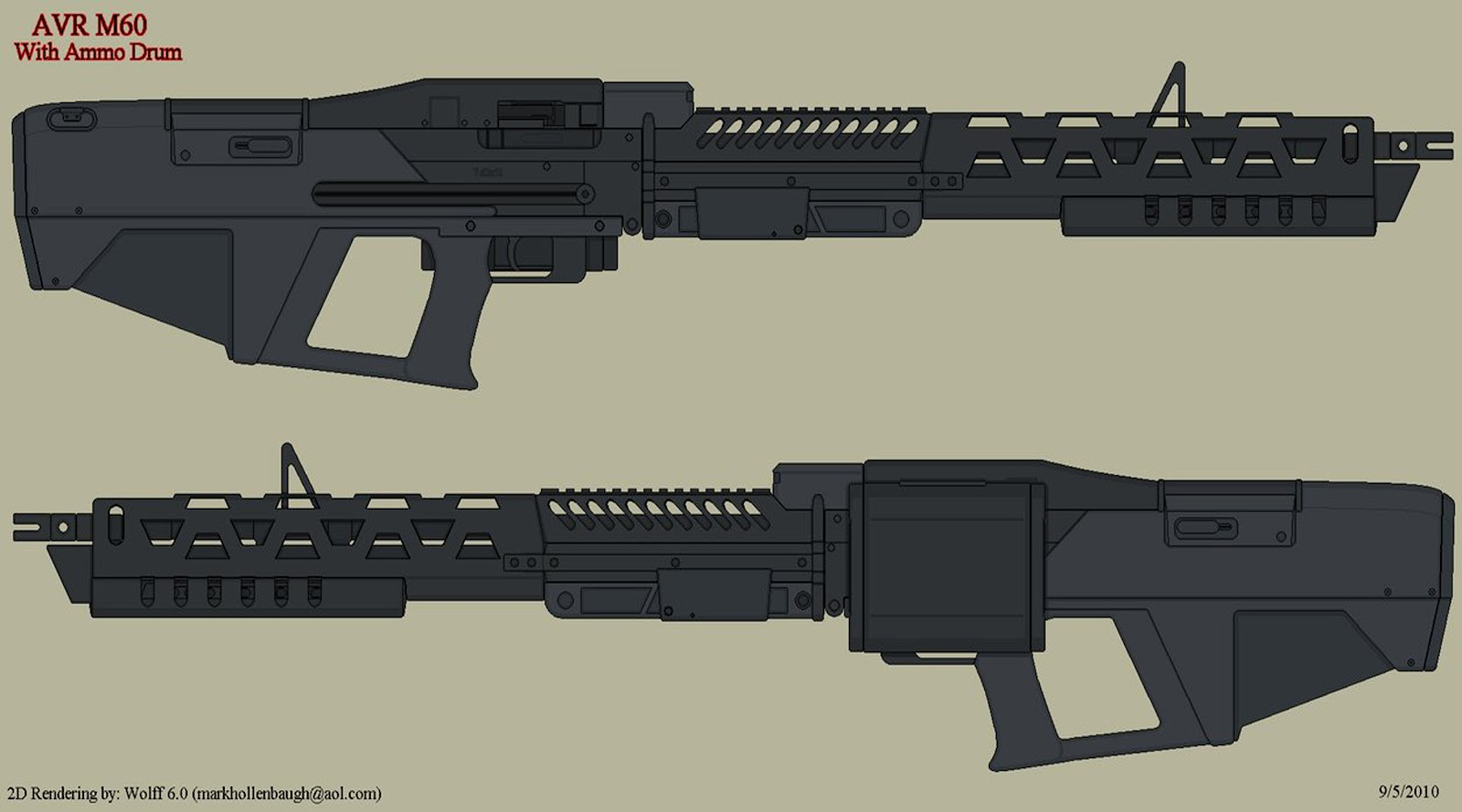 More cool sci fi weapons by an australian concept artist named hong