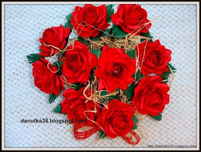 kwiaty z papieru,bukiety