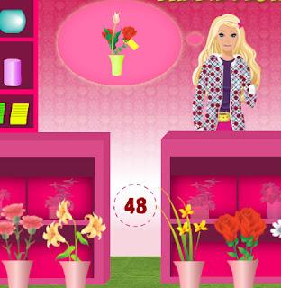 Juego de hacer y decorar ramos de flores para Barbie