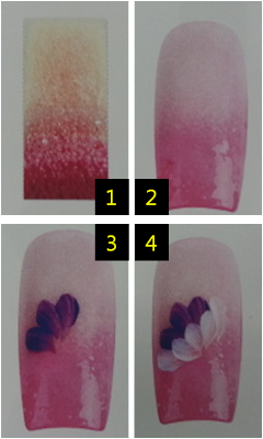 Chrysanthemum nail art drawing, easy to follow nail art