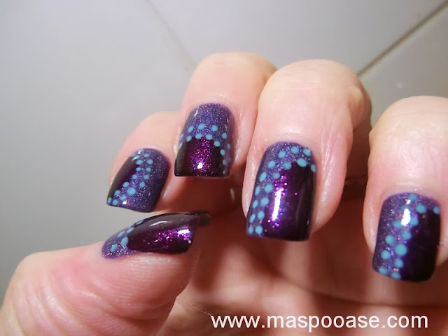 Purple-nailart