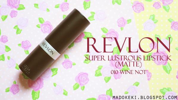 Revlon Super Lustrous Lipstick Matte 010 Wine Not