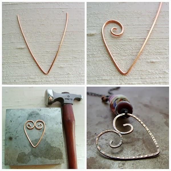 Art Bead Scene Blog: Tutorial Tuesday - Wire Heart Pendant