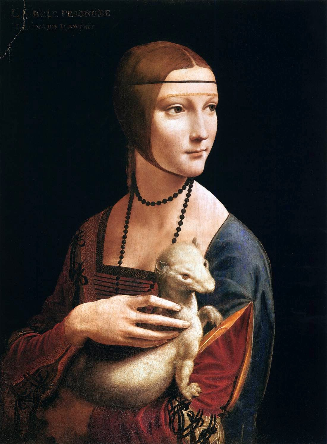 The Lady with the Ermine (Cecilia Gallerani) by  Leonardo da Vinci c1490
