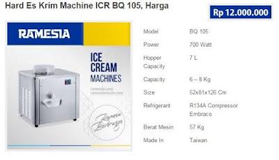 Mesin Pembuat Es Krim ICR BQ 105