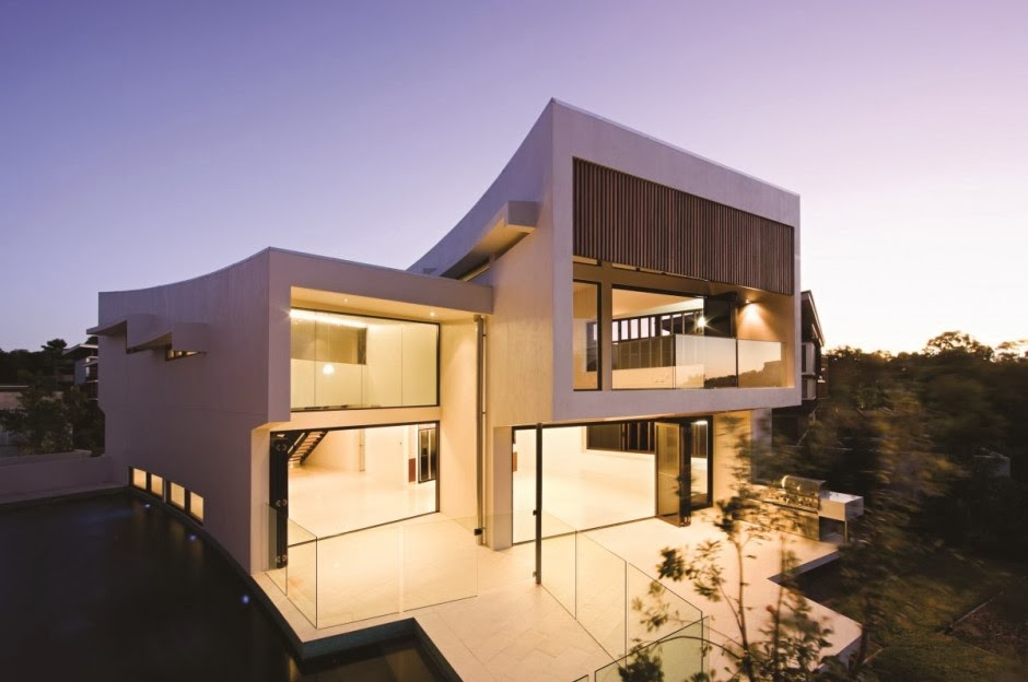 Casa elysium con fachadas modernas bvn architecture for Home designs australia