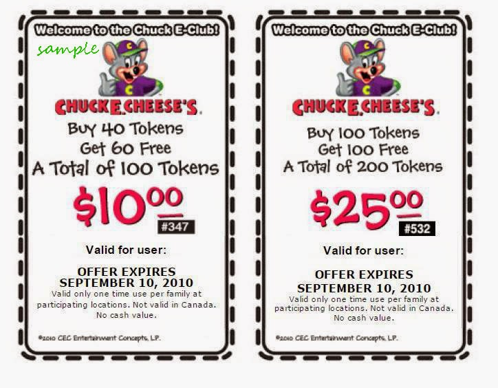 "May 22,  · You can also check Chuck E Cheese Coupons. There is a new offer of Token coupons says: Chuck E Cheese Coupons Tokens for $10 Also, Get tokens for 10 dollars and most popular Chuck E Cheese Coupons Tokens for $ TODAY""S TOP DEALS – Chuck E. Cheese Coupons IN store latest Promo Codes/5(6)."