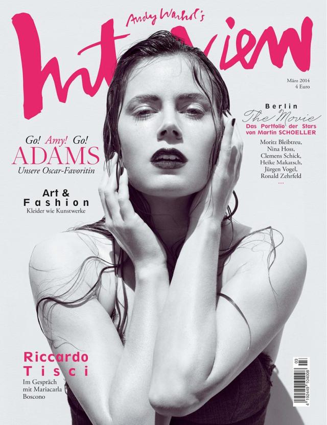 Amy Adams en portada de la revista Interview de Alemania Marzo 2014