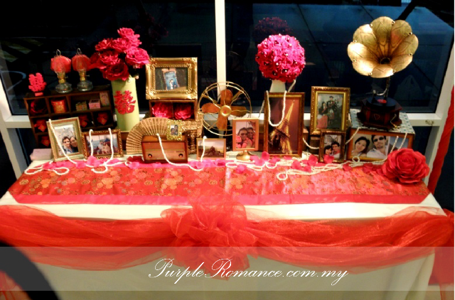 Chinese Oriental Wedding Decoration, shanghai night, elegant, vintage, paper fans, red backdrop, photo booth, instant print, malaysia, kuala lumpur, selangor, SJK(C) Chung Kwo, Jalan loke yew, bird cages, double happiness, hei logo, gold, maroon, wooden crates, oil lamp, love corner, peonies, paper lanterns