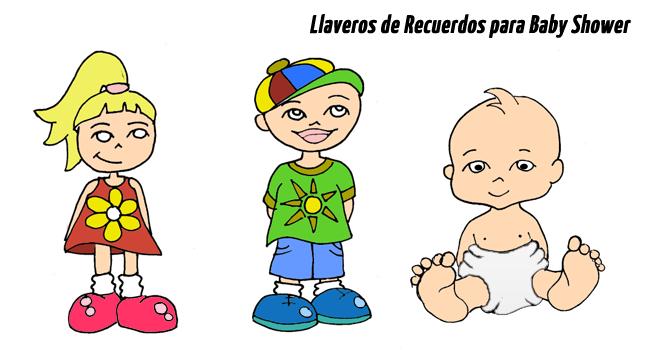 Llaveros de Recuerdos para Baby Shower