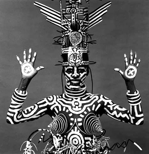 1984 Keith Haring Pinta Sobre Grace Jones Mapplethorpe