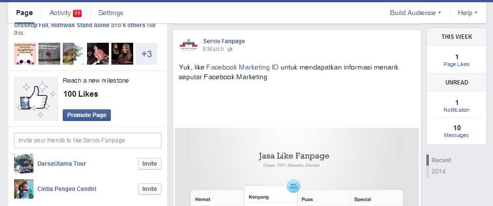 Cara Menambah Like Fanpage Facebook dengan Saling Promosi