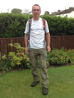Peter after completing his walk for Rwanda